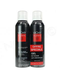 Vichy Homme Gel de Rasage Anti-Irritations. Lot 2x150ml