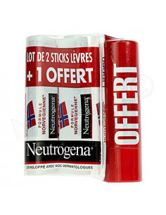 Neutrogena Stick lèvres Formule Norvégienne. Lot 3 sticks de 4