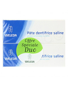 Weleda Pate Dentifrice Saline spécial Tartre. Lot 2x75ml