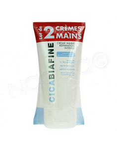 Cicabiafine Crème Mains Réparation intense. Lot 2x75ml