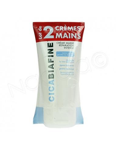 Cicabiafine Crème Mains Réparation intense. Lot 2x75ml
