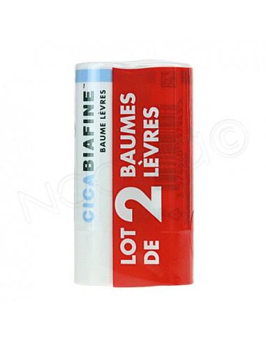 Cicabiafine Baume Lèvres. Lot 2 batonnets de 4