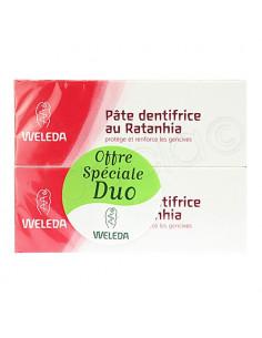 Weleda Pâte Dentifrice au Ratanhia. Lot 2x75ml