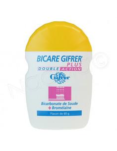 Bicare Gifrer Plus Poudre Double Action. Flacon 60g