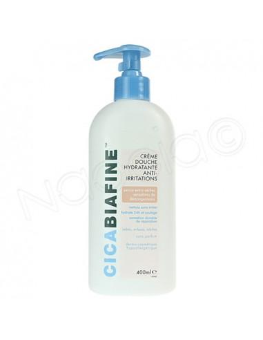 Cicabiafine Crème Douche Hydratante Anti-Irritations. Flacon pompe 400ml