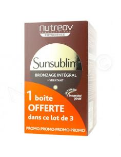 Offre spéciale Nutreov Sunsublim Bronzage intégral Hydratant intensif. 2 boîtes de 30 capsules +1 OF