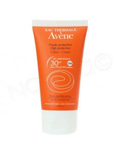 Avène Crème Solaire Visage SPF30 Peau sensible & sèche. Tube 50ml