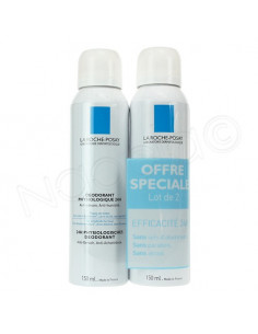 La Roche Posay Déodorant Physiologique Spray. Lot 2x150ml