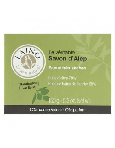 Laino Savon d'Alep - Peaux sèches. Pain 150g