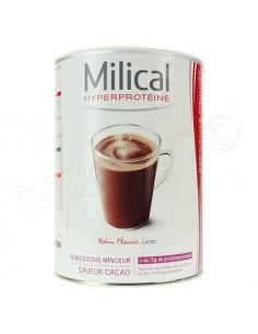 Milical Hyperprotéiné Matin Plaisir Boisson Minceur Cacao. 18 portions 30g. ACL 9671322