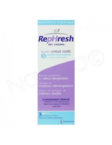 Rephresh Gel Vaginal Longue Durée. Boite 3 applicateurs unidoses