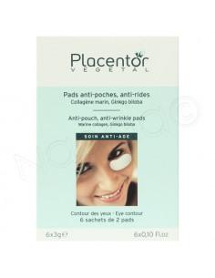 Placentor Vegetal Pads Anti-poches Anti-rides. 6 sachets de 2 pads