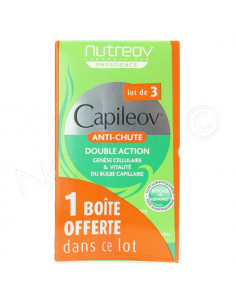 Nutreov Capileov Anti-Chute Double Action. Lot 2 boites 30 gélules + 1 OFFERTE