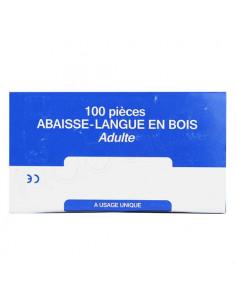 Abaisse-Langue en Bois Adulte. x100 pièces
