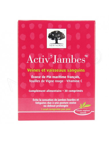 New Nordic Activ' Jambes Circulation Veineuse. 30 comprimés
