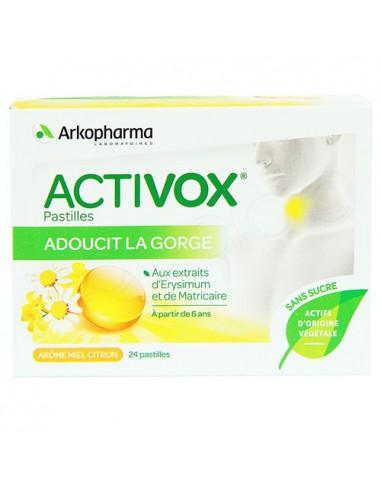 Activox Pastilles Acérola Fruit rouge. 24 pastilles