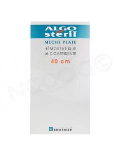 AlgoSteril 16 Mèches Plates Hémostatique et Cicatrisante 40cm