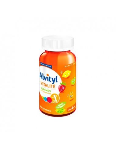 Alvityl Vitalité 10 vitamines Dès 4 ans Arômes Naturels. Boite de 60 gommes -