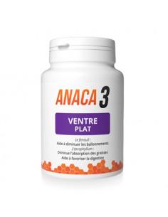 Anaca3 Ventre plat diminue les ballonnements et l'absoption des graisses. 60 gélules -