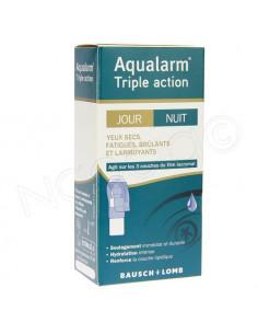 Aqualarm Triple Action Jour et Nuit Yeux Secs Fatigués Brûlants et Larmoyants. 10ml -