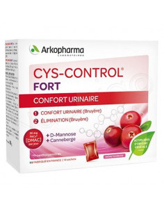 Arkopharma Cys-Control Fort Confort Urinaire. 14 sachets