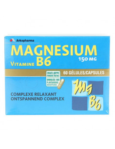 ARKOVITAL MAGNESIUM VITAMINE B6 Gélule. Boîte de 60 - ACL 7751057