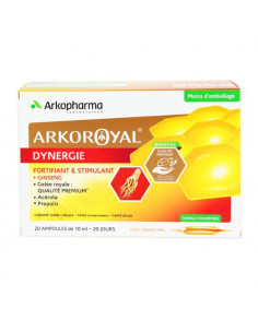Arkoroyal Dynergie Fortifiant & Stimulant. x20 ampoules de 10ml