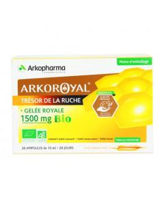 Arkoroyal Trésor de la Ruche Gelée Royale 1500mg Bio. x20 ampoules de 10ml