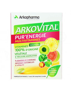 Arkopharma Arkovital Pur'Energie Multivitamines Traitement 1 mois. 30 comprimés