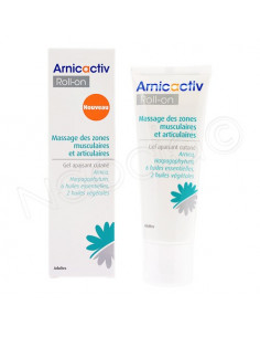 Arnicactiv Gel Apaisant Cutané. Roll-on 75ml massage articulaire et musculaire