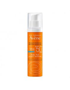 Avène Fluide Solaire SPF50+ Sans Parfum Peaux Sensibles Normales à Mixtes. 50ml - protection visage
