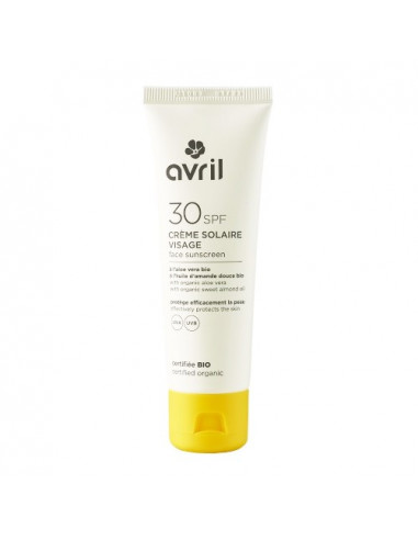 Avril SPF30 Crème Solaire Visage Bio. 50ml
