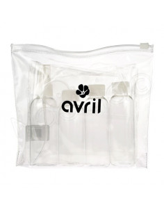 Avril Trousse de Toilette + 4 Flacons Vides à remplir