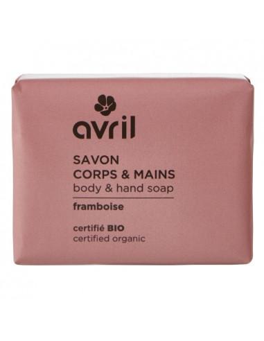 Avril Savon Corps & Mains Framboise Bio. 100g