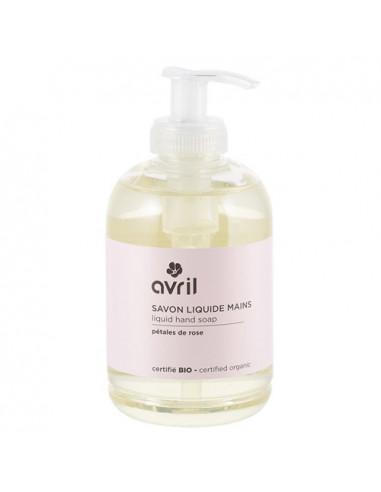 Avril Savon Liquide Mains Bio Pétales de Rose. 300ml