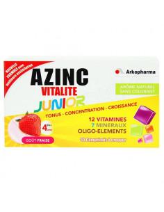 Arkopharma Azinc Vitalité Junior Tonus Concentration et Croissance Goût Fraise. 30 comprimés