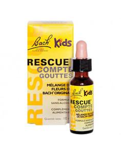 Fleurs de Bach Rescue Kids Sans Alcool. Flacon Compte-Gouttes 10ml - maîtrise et sérénité