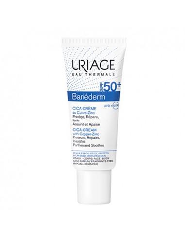 Uriage Bariéderm Cica-Crème Spf50+ 2en1 Réparation + Protection Solaire. 40ml -