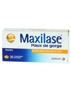 Maxilase Maux de Gorge Adulte. 30 comprimés enrobés