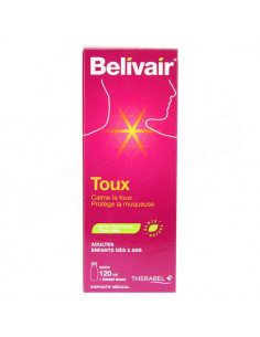 Belivair Toux. Sirop 120ml + gobelet doseur
