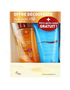 Bergasol Huile Sèche SPF50 125ml + Après-Soleil 150ml OFFERT