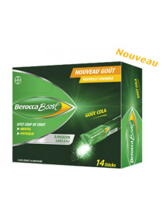 Berocca Boost Effet Coup de Fouet Mental et Physique goût cola. 14 sticks -