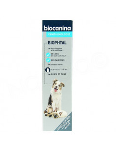 Biophtal Solution Nettoyage Yeux Chiens et Chats. Flacon 125ml