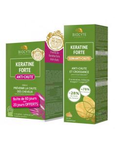 Biocyte Keratine Forte Anti-chute 3x40 gélules + Keratine Forte Soin 50ml OFFERT