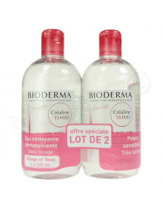 Créaline TS H2O Solution Micellaire. Lot 2x500ml