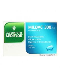 Mediflor Mildac 300mg Millepertuis 40 comprimés pelliculés