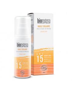 Bioregena Huile Solaire Spf15 Protection Naturelle & Hypoallergénique. 90ml -