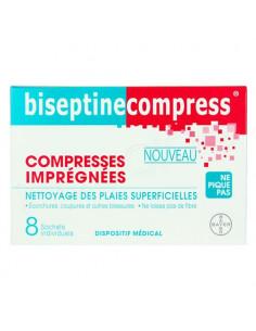 BiseptineCompress x8 compresses imprégnées