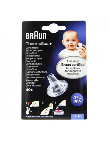 Braun ThermoScan Embouts LF40. x40