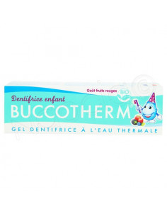 Buccotherm Dentifrice enfant bio à l'Eau Thermale Goût fruits rouges. 50ml